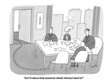 """Isn't it about time someone reined Johnson back in"" - Cartoon"