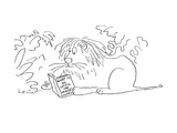 Lion sits in the jungle and reads a book entitled 'What to Do Until the Mo… - Cartoon