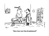 """Now  how can I be of assistance"" - Cartoon"