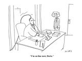 """I'm on line now  Doris"" - Cartoon"
