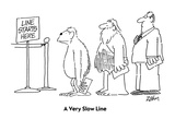 A Very Slow Line - Cartoon
