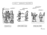 Early Exercise Machines Three early  non-electric versions of exercise eq… - New Yorker Cartoon