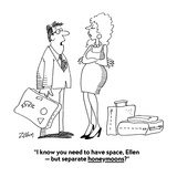 """""""I know you need to have space  Ellen — but separate honeymoons"""" - Cartoon"""
