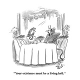 """Your existence must be a living hell"" - Cartoon"