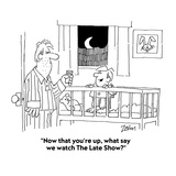 """""""Now that you're up  what say we watch The Late Show"""" - Cartoon"""