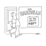 Ed's BARBELLS  All you can lift $18995 - Cartoon