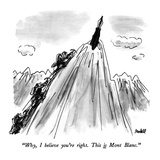 """Why  I believe you're right  This is Mont Blanc"" - New Yorker Cartoon"
