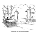 """I understand they have some lovely things"" - New Yorker Cartoon"