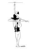 A male ballet dancer lifts a ballerina up over his head  so that she can s… - New Yorker Cartoon