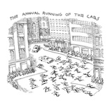 THE ANNUAL RUNNING OF THE CABS - New Yorker Cartoon