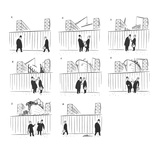 A couple of men stop outside a shipyard to smoke a cigarette and chat Dur… - New Yorker Cartoon