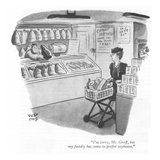 """I'm sorry  Mr Groff  but my family has come to prefer soybeans"" - New Yorker Cartoon"