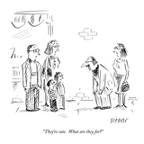 """""""They're cute  What are they for"""" - New Yorker Cartoon"""