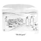 """The kid's good"" - New Yorker Cartoon"
