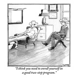 """I think you need to enroll yourself in a good two-step program"" - New Yorker Cartoon"