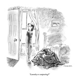 """Laundry or composting"" - New Yorker Cartoon"