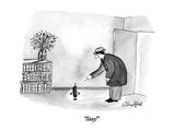 """Stay!"" - New Yorker Cartoon"