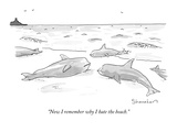 """""""Now I remember why I hate the beach"""" - New Yorker Cartoon"""
