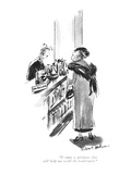 """I want a perfume that will help me recall the boulevards"" - New Yorker Cartoon"