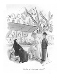 """Pardon me Are you a grisette"" - New Yorker Cartoon"