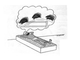 Turbaned man lays on a bed of nails counting porcupines - New Yorker Cartoon