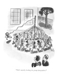 """She's utterly lacking in group integration"" - New Yorker Cartoon"