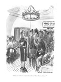 """Heave you noticed a very festive table of Bryn Mawr alumnae"" - New Yorker Cartoon"