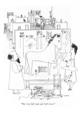 """But it is half man and half horse"" - New Yorker Cartoon"