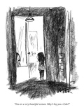 """You are a very beautiful woman May I buy you a Coke"" - New Yorker Cartoon"