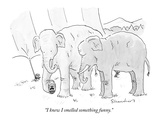 """I knew I smelled something funny"" - New Yorker Cartoon"