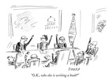 """""""OK  who else is writing a book"""" - New Yorker Cartoon"""