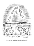 """It's lost all meaning in the steroid era"" - New Yorker Cartoon"