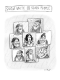 Politically correct version of Snow White and Seven Dwarfs - New Yorker Cartoon