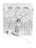 Person thinking about everything - New Yorker Cartoon