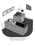 """Because when you put the Rorschachs in your pants I can't use them again"" - New Yorker Cartoon"