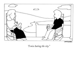 """I miss hating the city"" - New Yorker Cartoon"