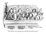 """Your Honor  we're going to go with the prosecution's spin"" - New Yorker Cartoon"