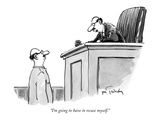 """I'm going to have to recuse myself"" - New Yorker Cartoon"