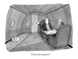 """I try to do my part"" - New Yorker Cartoon"