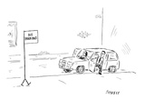"A couple gets out of their car and notices a ""no parking"" sign walking tow… - New Yorker Cartoon"