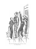 One of the New Bachelor Hotels Measures a Guest for a Single Room - New Yorker Cartoon