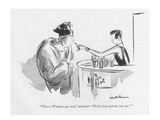 """""""This is 'N'aimez que moi ' madame—'Don't love nobody but me' """" - New Yorker Cartoon"""