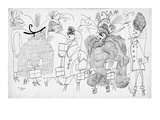 Women dressed in various fanciful outfits - New Yorker Cartoon