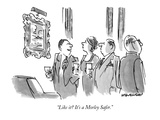 """Like it  It's a Morley Safer"" - New Yorker Cartoon"