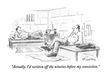 """""""Actually  I'd written off the nineties before my conviction"""" - New Yorker Cartoon"""