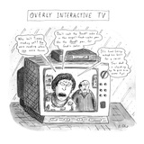 Overly Interactive TV - New Yorker Cartoon