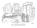 """""""Or we could tally the sheep like this"""" - New Yorker Cartoon"""