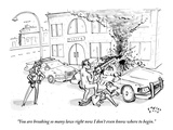 """You are breaking so many laws right now I don't even know where to begin…"" - New Yorker Cartoon"