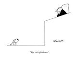 """You can't plead cute"" - New Yorker Cartoon"