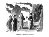 """I regard this as grounds for optimism"" - New Yorker Cartoon"